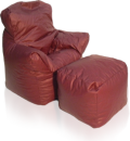 Bean Bag Armchair and Ottoman