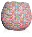 Circles & Squares Pattern Bean Bag Chair